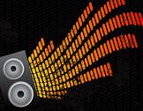 Stock Illustration of Speaker and equalizer audio background