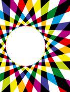 Rainbow spirograph background - stock illustration