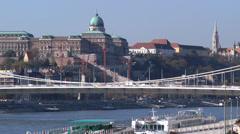 Castl Hill Budapest Stock Footage