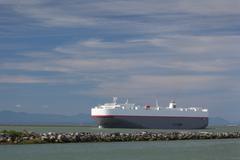 Fraser River Freighter Stock Photos