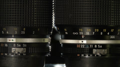 Camera Lenses Stock Footage