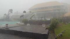 Typhoon Yolanda Haiyan batters Tacloban Philippins Stock Footage