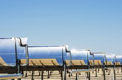 solar thermal electric plant - stock photo