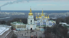 St. Michael's Cathedral  in Kiev Stock Footage