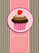 cupcake background - stock illustration