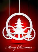christmas tree - stock illustration