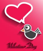 Stock Illustration of valentines day card