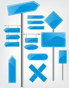 Stock Illustration of editable street signs