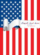 Stock Illustration of ripped usa flag