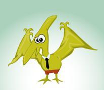 Stock Illustration of cartoon pterodactylus