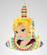 Vihainen prinsessa Piirros