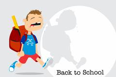 back to school - stock illustration