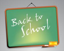 Stock Illustration of blackboard. back to school
