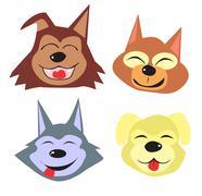 Stock Illustration of cartoon cute dogs