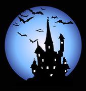 halloween night - stock illustration