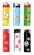 Stock Illustration of vector plastic lighters