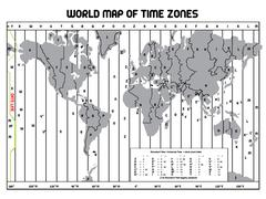 Timezone map Stock Illustration