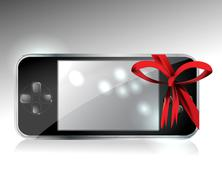 Stock Illustration of gift portable video game