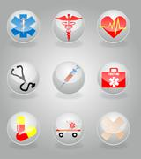 Stock Illustration of medical icons