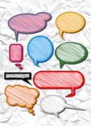 Stock Illustration of speech bubbles