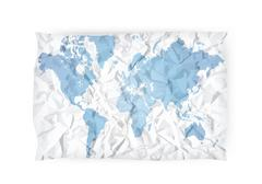 Stock Illustration of creased map
