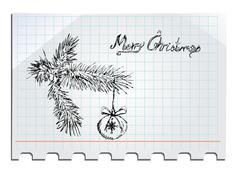 Stock Illustration of merry christmas hand drawn
