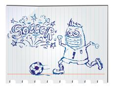 Stock Illustration of hand drawn soccer