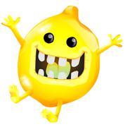 Stock Illustration of cartoon lemon