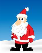 Stock Illustration of santa cartoon