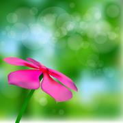 Stock Illustration of pink flower