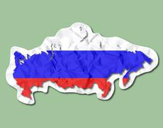 Stock Illustration of russia flag paper tag