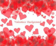 Stock Illustration of valentine's day background with hearts