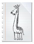 Stock Illustration of hand drawn giraffe