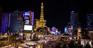 Stock Video Footage of 4K time lapse of Las Vegas casinos and the strip from Caesar's Palace
