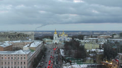St. Michael's Square  in Kiev view Stock Footage