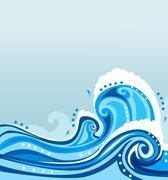 Stock Illustration of vector wave illustration