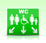 Stock Illustration of wc sign
