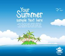 summer background - stock illustration