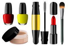 Make up set Stock Illustration