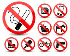 Stock Illustration of prohibited symbols