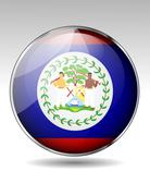 belize flag icon - stock illustration
