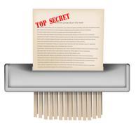 paper shradder - stock illustration
