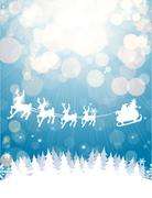 winter christmas background - stock illustration