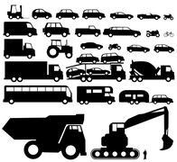 Vehicle silhouette vector Stock Illustration