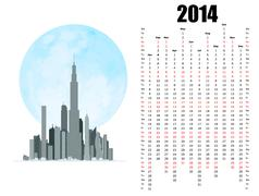 Stock Illustration of 2014 calendar