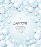 bubbles background - stock illustration