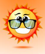 Stock Illustration of cute cartoon sun