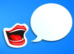 speaking mouth - stock illustration