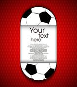 paper soccerball background - stock illustration