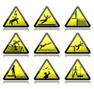 Stock Illustration of warning signs